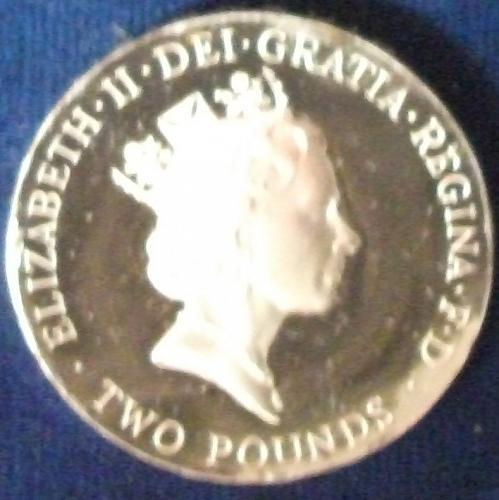 1996 Great Britain 2 Pounds Silver Proof