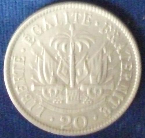 1907 Haiti 20 Centimes XF