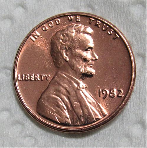 1982 1 Cent - Lincoln Memorial Cent