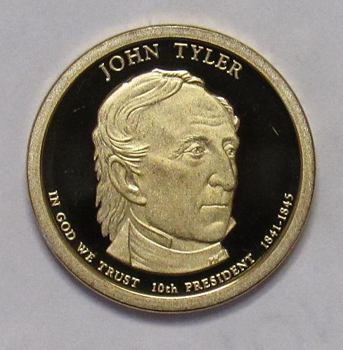 2009 S Proof Presidential Dollar: John Tyler