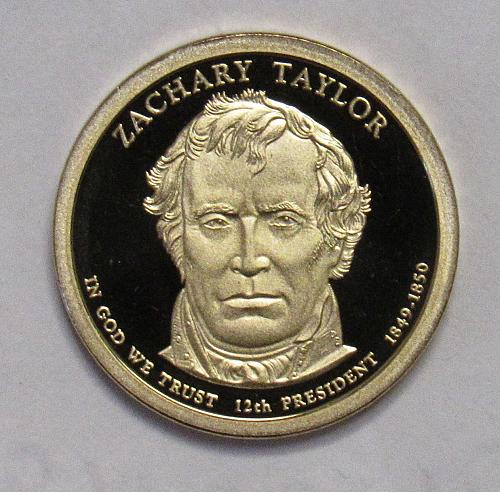 2009 S Proof Presidential Dollar: Zachary Taylor