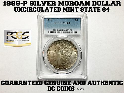 1889-P SILVER MORGAN DOLLAR / PCGS GRADED AND SLABBED