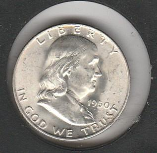 1950 D Franklin Half Dollars - #2