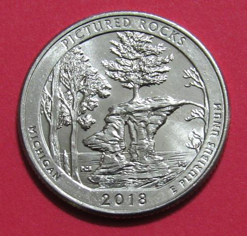 2018-D 25 Cents - Pictured Rocks Michigan National Park America the Beautiful Qu