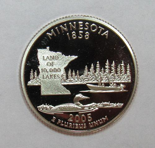 2005 S Proof Minnesota 50 States and Territories Quarter