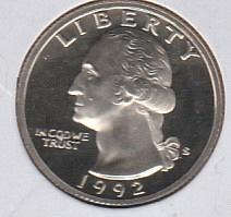 1992 S Washington Quarters - #2