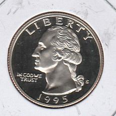 1995 S Washington Quarters - #2
