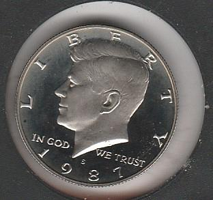 1987 S Kennedy Half Dollars - #2