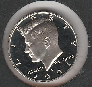 1991 S Kennedy Half Dollars - #2