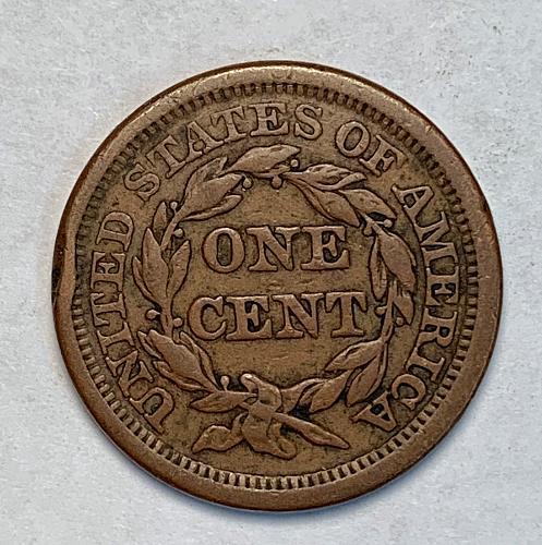 1854 Very Fine Braided Hair Large Cent [LGC 37]
