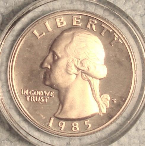 1985 S Washington Quarter Cameo Proof