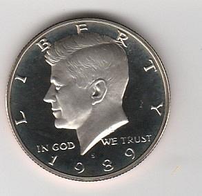 1989 S Kennedy Half Dollars - #2