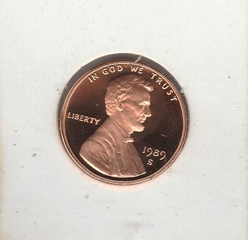 1989 s Lincoln Memorial Penny - Proof -#2