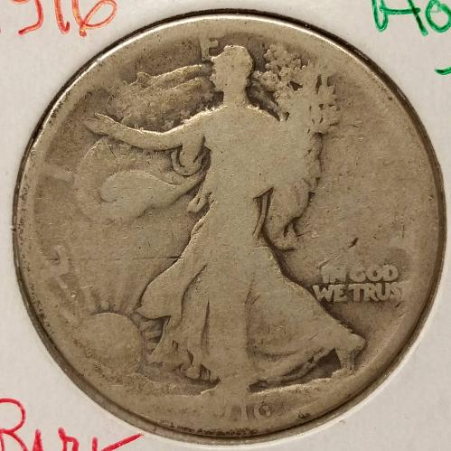 1916 Walking Liberty Half