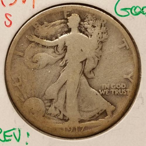 1917-S Walking Liberty Half