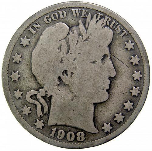 1908 O Barber Half Dollar#1