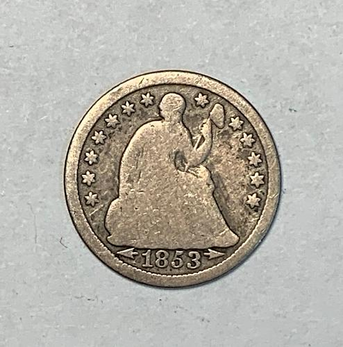1853 Arrows Seated Liberty Half Dime [SHD 2]