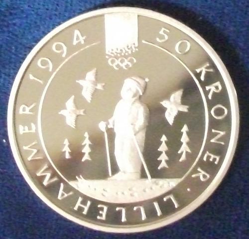 1991 Norway 50 Kroner Proof