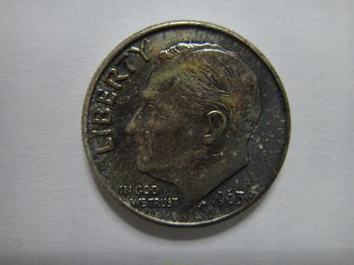 1963 Roosevelt Dime MS-64 (Near Gem) with Russet Tone on Obverse!