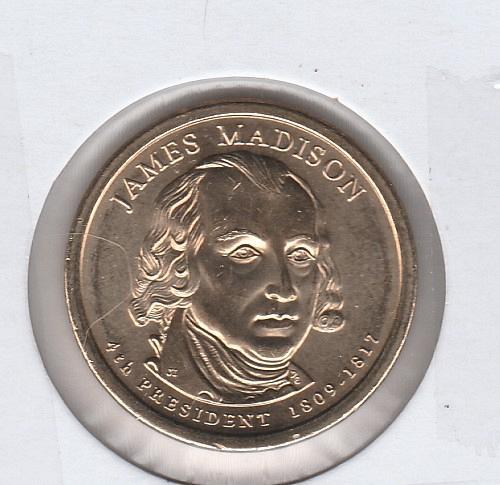 2007 S Proof Presidential Dollars: James Madison - #2