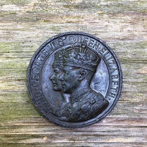 1937 King George VI & Queen Elizabeth Bronze Coronation Medal