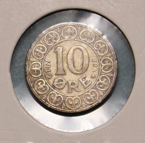 Denmark 1912 10 ore