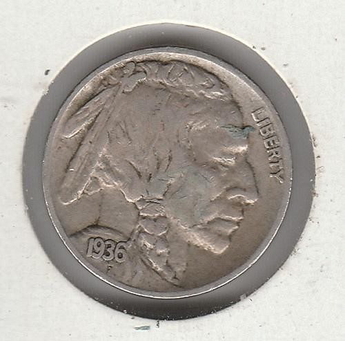 1936 S Buffalo Nickels - #3