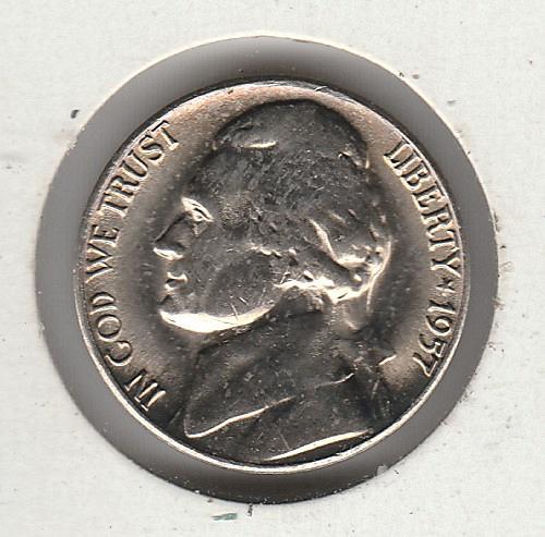 1957d Jefferson Nickel #4
