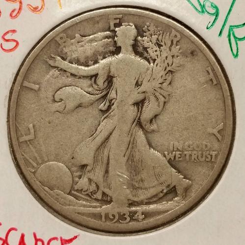 1934-S Walking Liberty Half