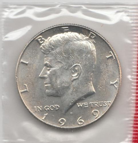 1969 D Kennedy Half Dollars - #3