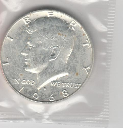 1968 D Kennedy Half Dollars - #3