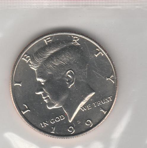 1991 D Kennedy Half Dollars - #3