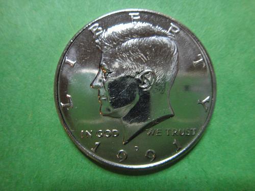 1991-D Kennedy Half Dollar MS-64 (Near Gem)