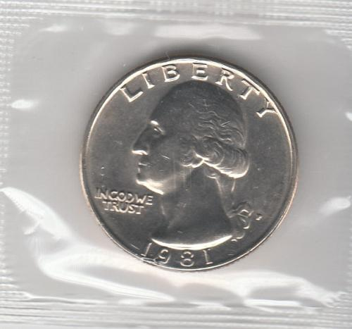 1981p BU Washington Quarter - #3