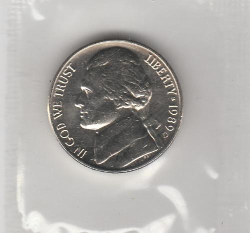 1989d Jefferson Nickel #2