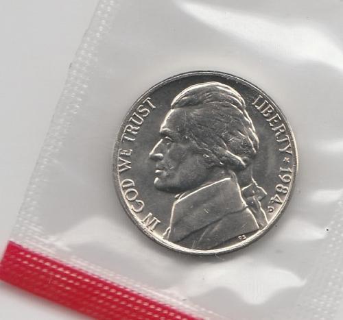1984 d BU Jefferson Nickel - #2
