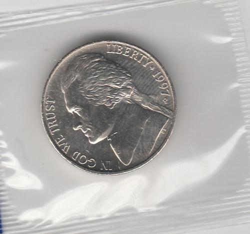 1997p Jefferson Nickels - #2