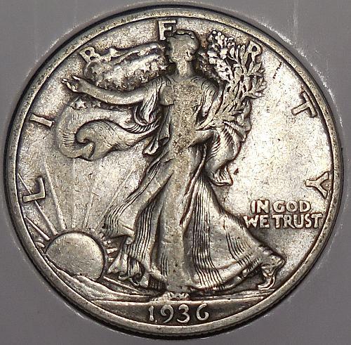 Walking Liberty Half Dollar 1936-P