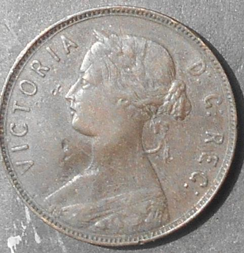 1880 NewFounland Canada Large Copper Penny