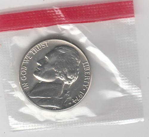 1974 d Jefferson Nickel #3