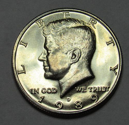 1989 D Kennedy Half Dollar in BU condition