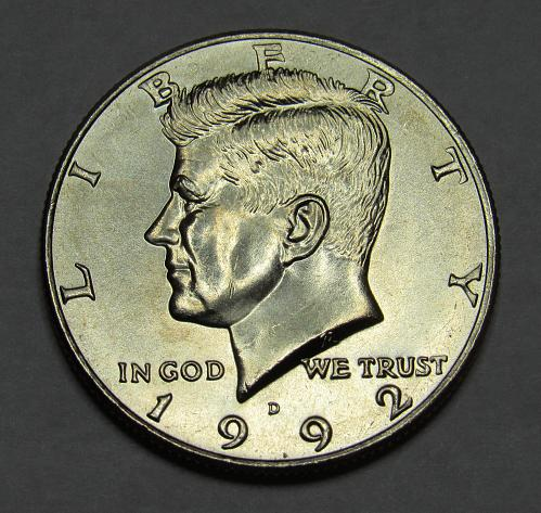 1992 D Kennedy Half Dollar in BU condition