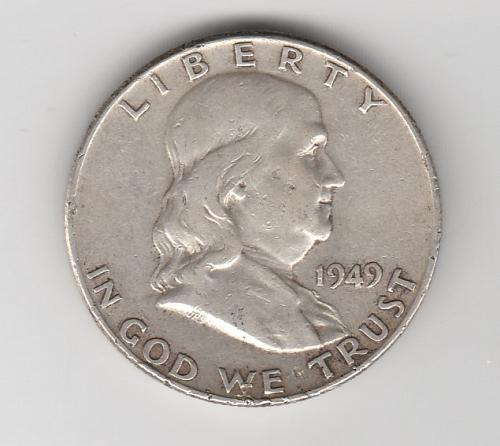 1949 P Franklin Half Dollars - 2