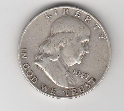1949 D Franklin Half Dollars - #2