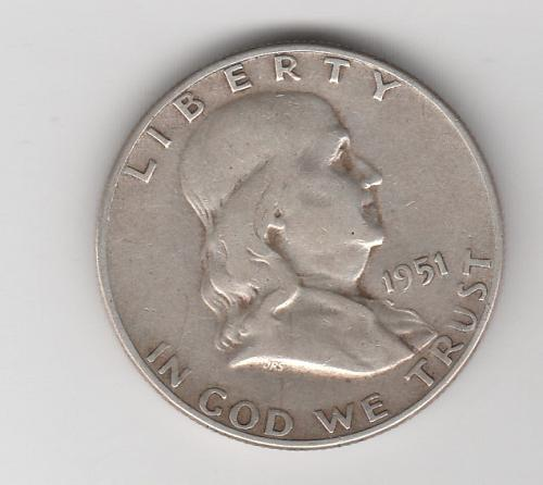 1951 S Franklin Half Dollars - #2