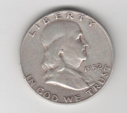 1952 S Franklin Half Dollars - #2