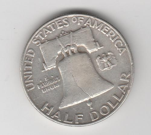 1953 D Franklin Half Dollars - #2