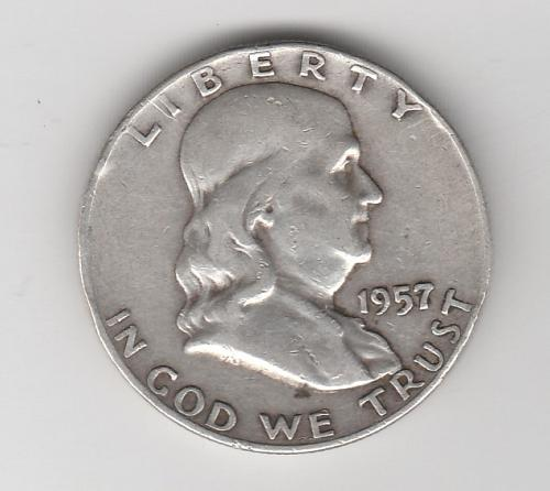 1957 D Franklin Half Dollars - #2