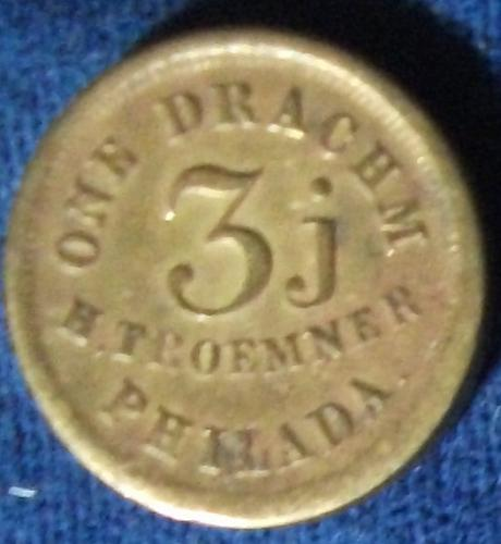 One Drachm Apothecaries Weight, H. Troemner, Philadelphia