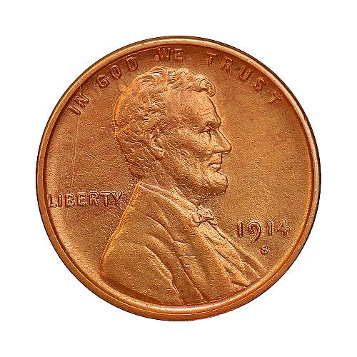 1914 S Lincoln Wheat Cent - Gem BU / MS / UNC